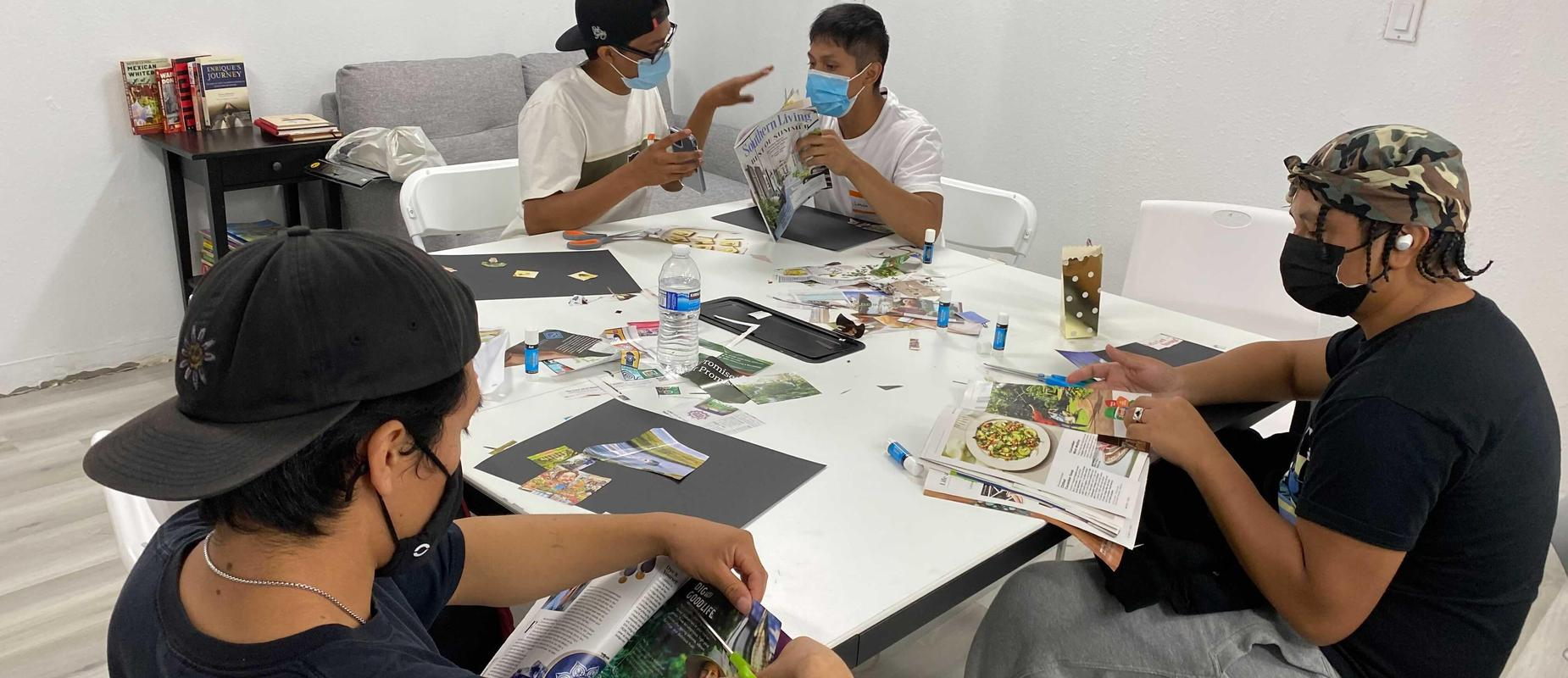 Canoga Park students work on vision boards