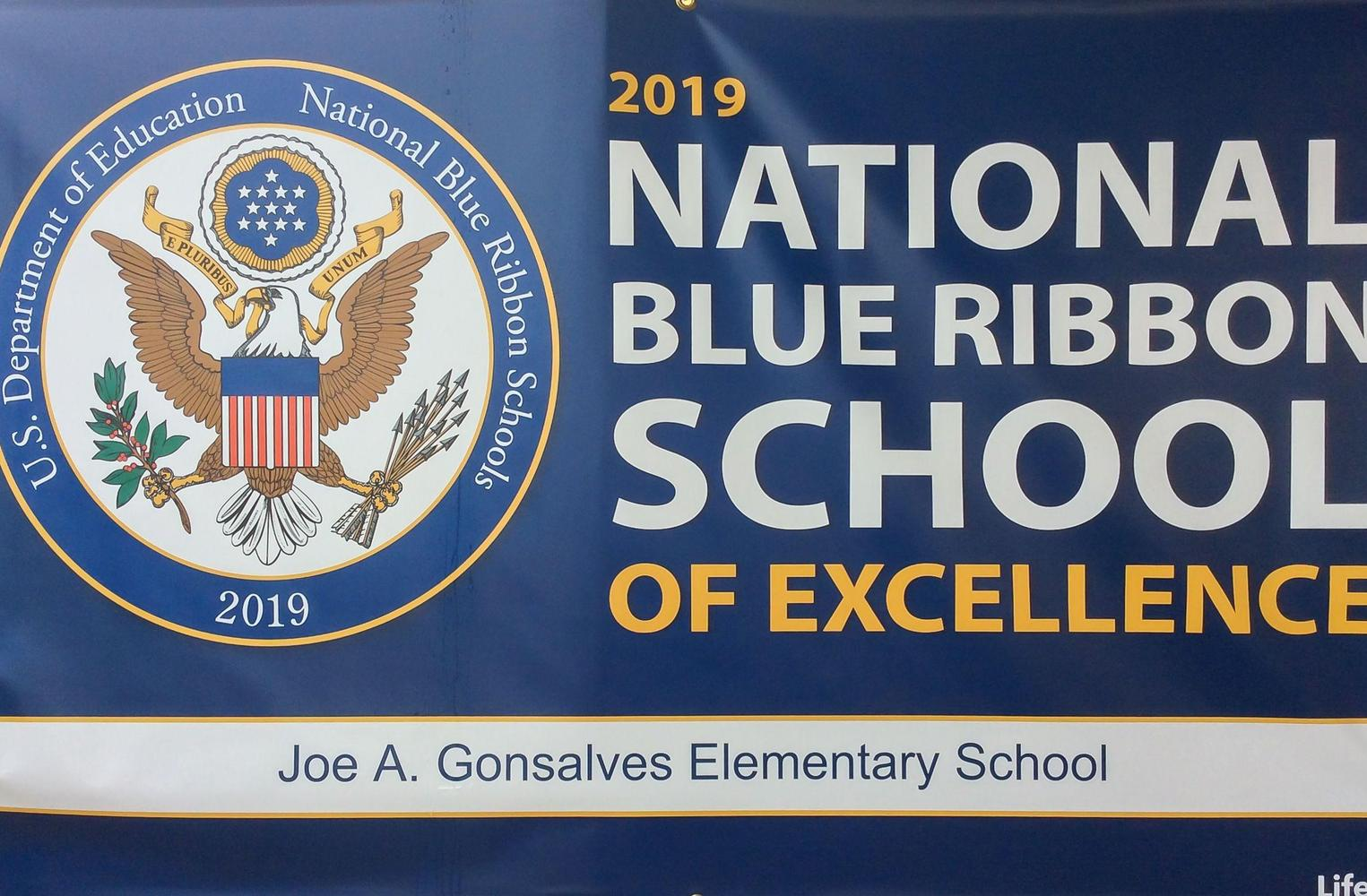 National Blue Ribbon Banner