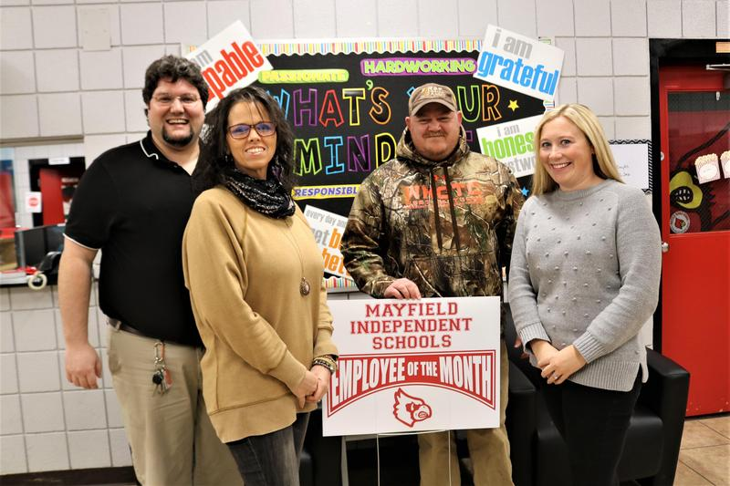 December 2019 Employees of the Month from left to right: Niaz Khadem, Brittney Clere, Brandon Shaw, and Sarah Dunn.