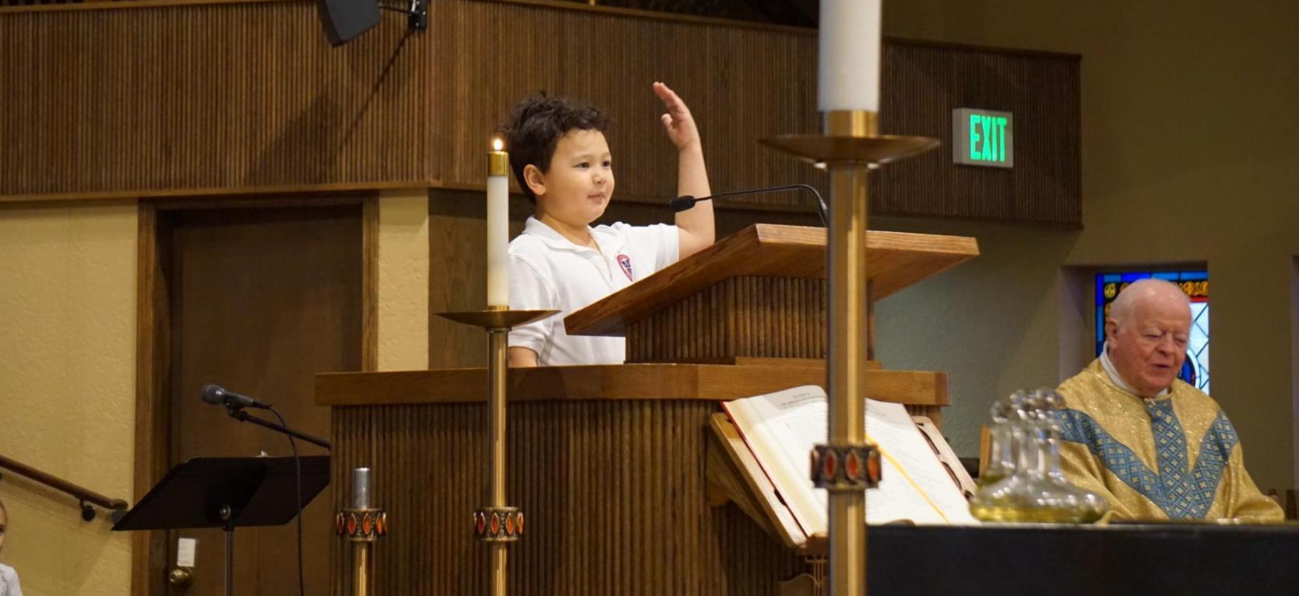 Student Leading mass