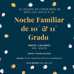 (Spanish)10th_11th Grade Family Night.png