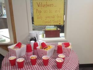 Popcorn for Volunteers