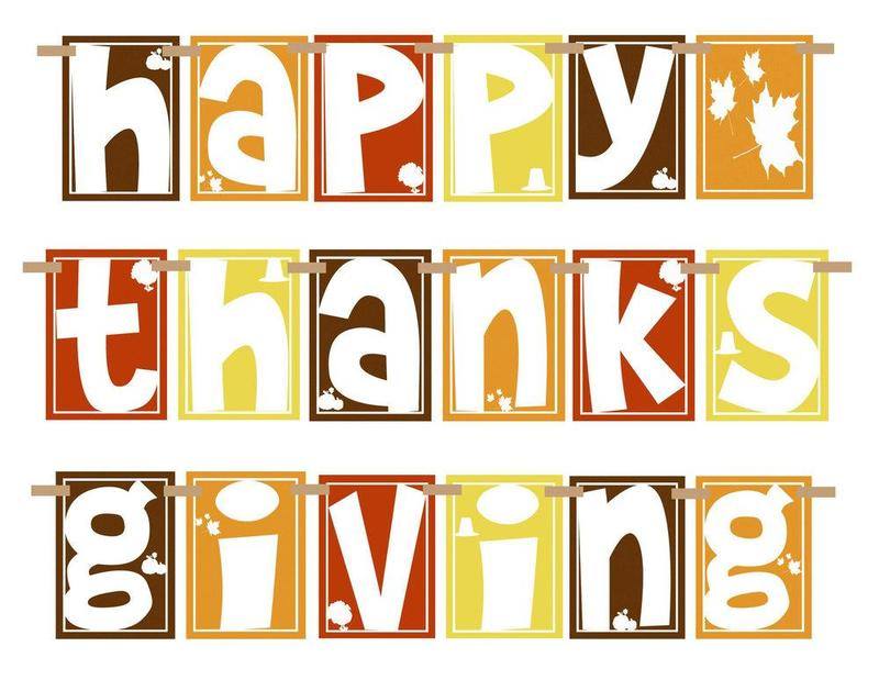 Graphic says Happy Thanksgiving