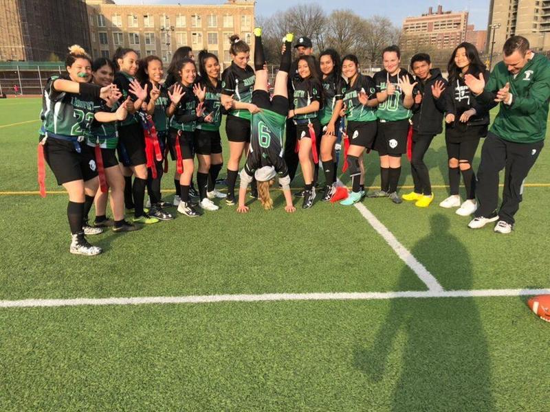 Maspeth High School Girls Varsity Flag Football Retains Perfect Record Featured Photo