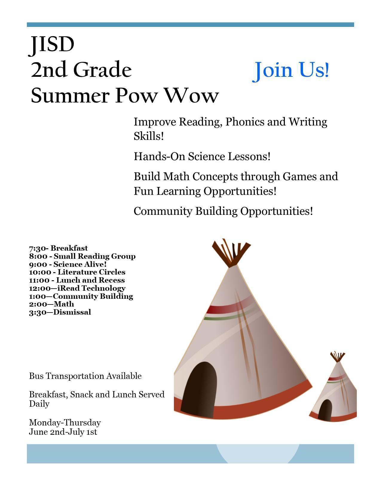 summer powwow flyer