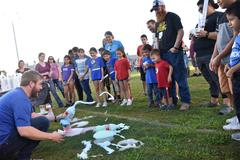 WSISD provides numerous opportunities for families to participate in fun, educational activities with their kids because family involvement is essential to our children's success. Pictured is an experiment at Mad Scientist Night.