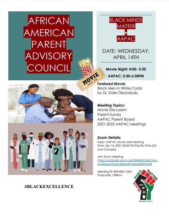 African American Parent Advisory Council Movie Night: Featured Photo