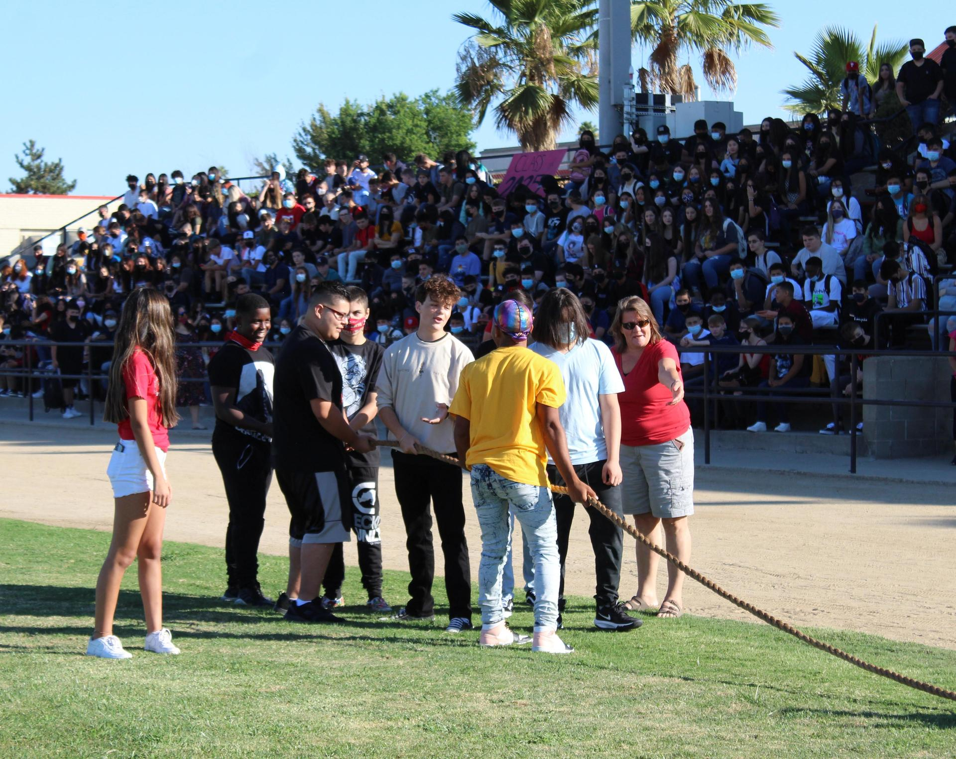 Students and Staff at the back to School rally