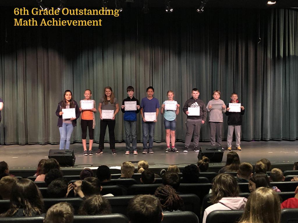 6th Grade Outstanding Math Achievement
