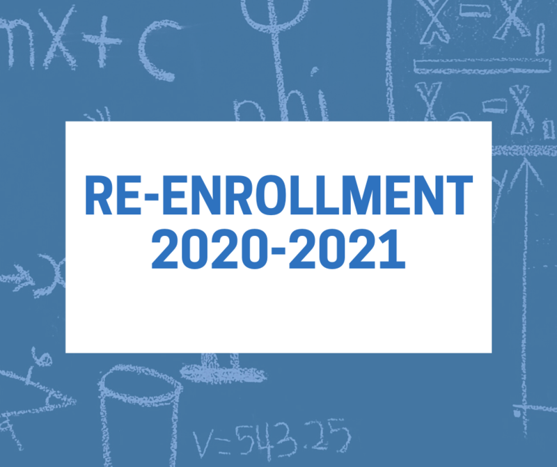 Re-Enrollment for Returning Students NOW OPEN! Thumbnail Image