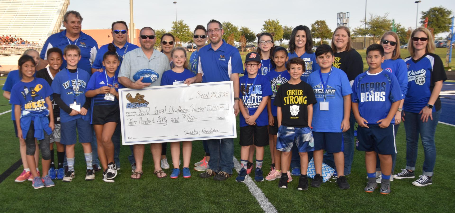 Tannahil Student Wins Annual Field Goal Challenge.