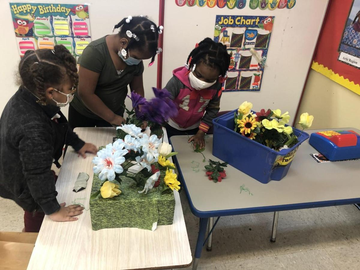 Pre K learning how to plant plants!