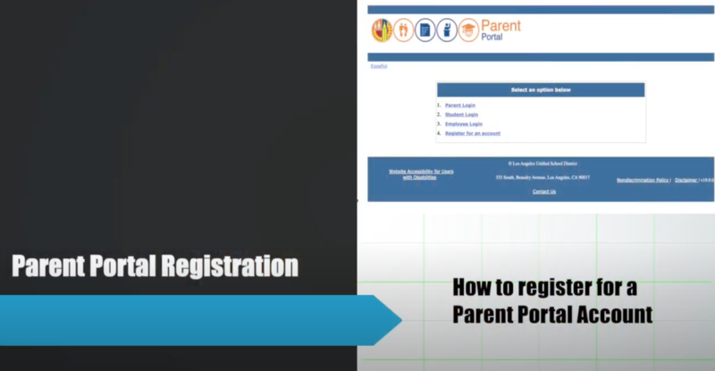 Parent Portal Registration (LAUSD) VIdeo Tutorial Featured Photo