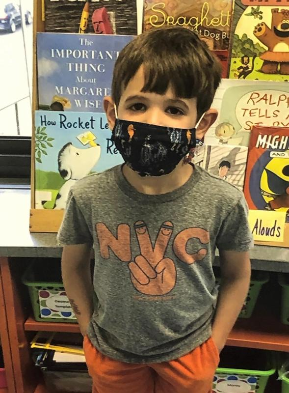 Photo of Wilson student wearing mask.