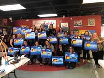 CSEC staff enjoyed a break and painted the Colorado C with a blue background.