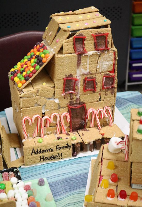 Washington 4th graders in Elizabeth Reilly's class included the Charles Addams House as part of a Gingerbread STEM Community project in December.