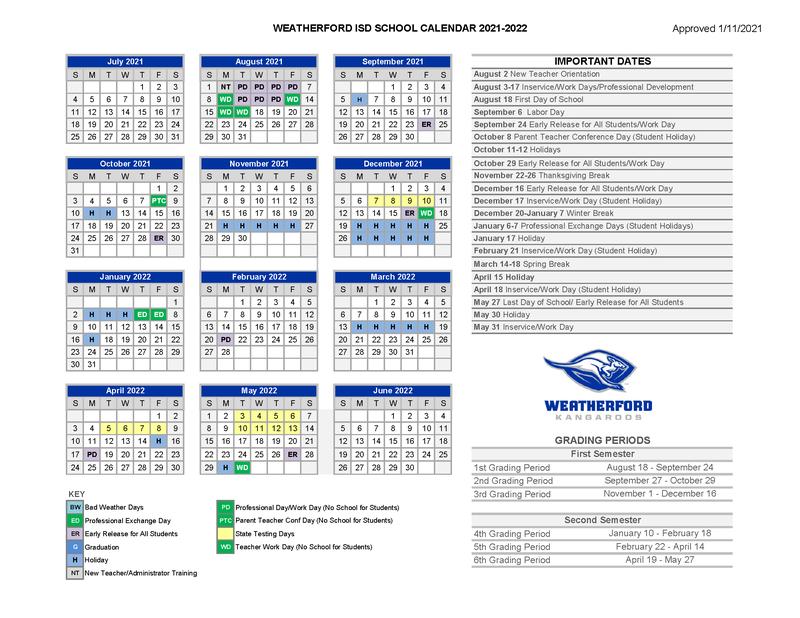 2021-2022 School Calendar Featured Photo