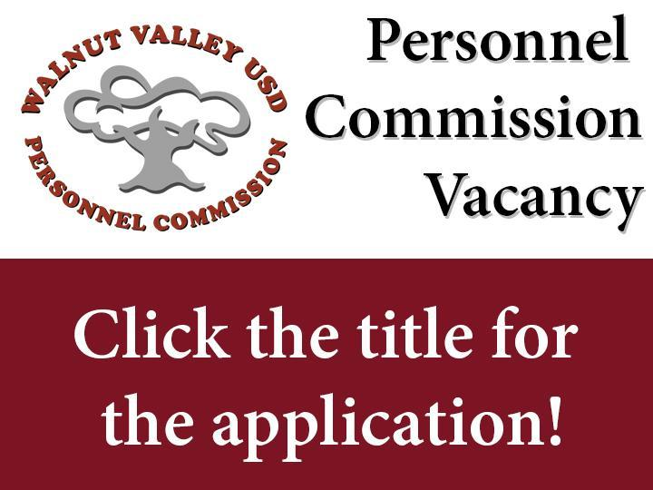 Personnel Commission Vacancy - Click here to apply! Featured Photo