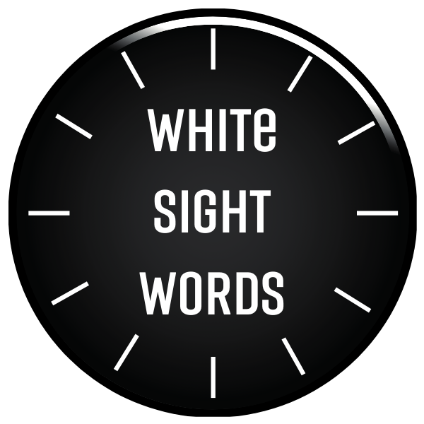 White Sight Words