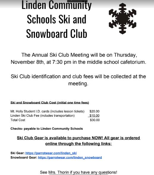 LMS Ski Club Information Thumbnail Image