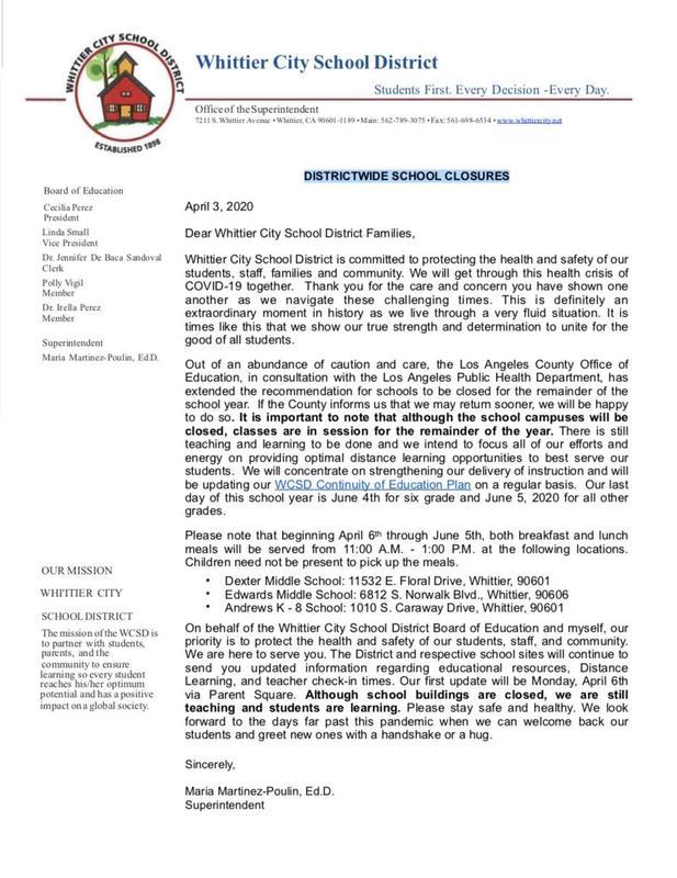 COVID-19 Letter #6