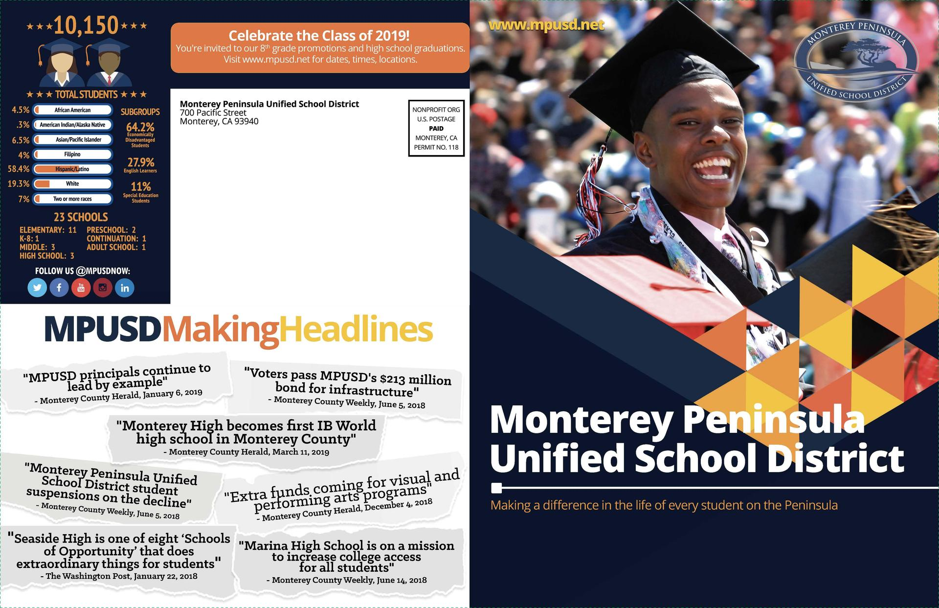 MPUSD on the Rise Brochure highlighting five years of progress