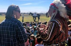 Teacher and Native American Presenter