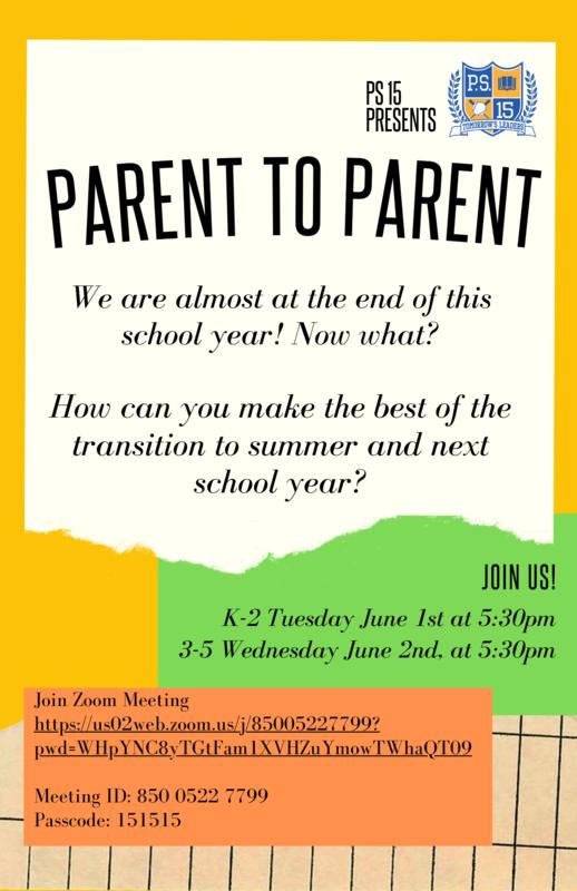 Parent to parent flyer
