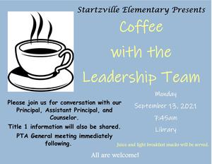 Coffee with the Leadership Team