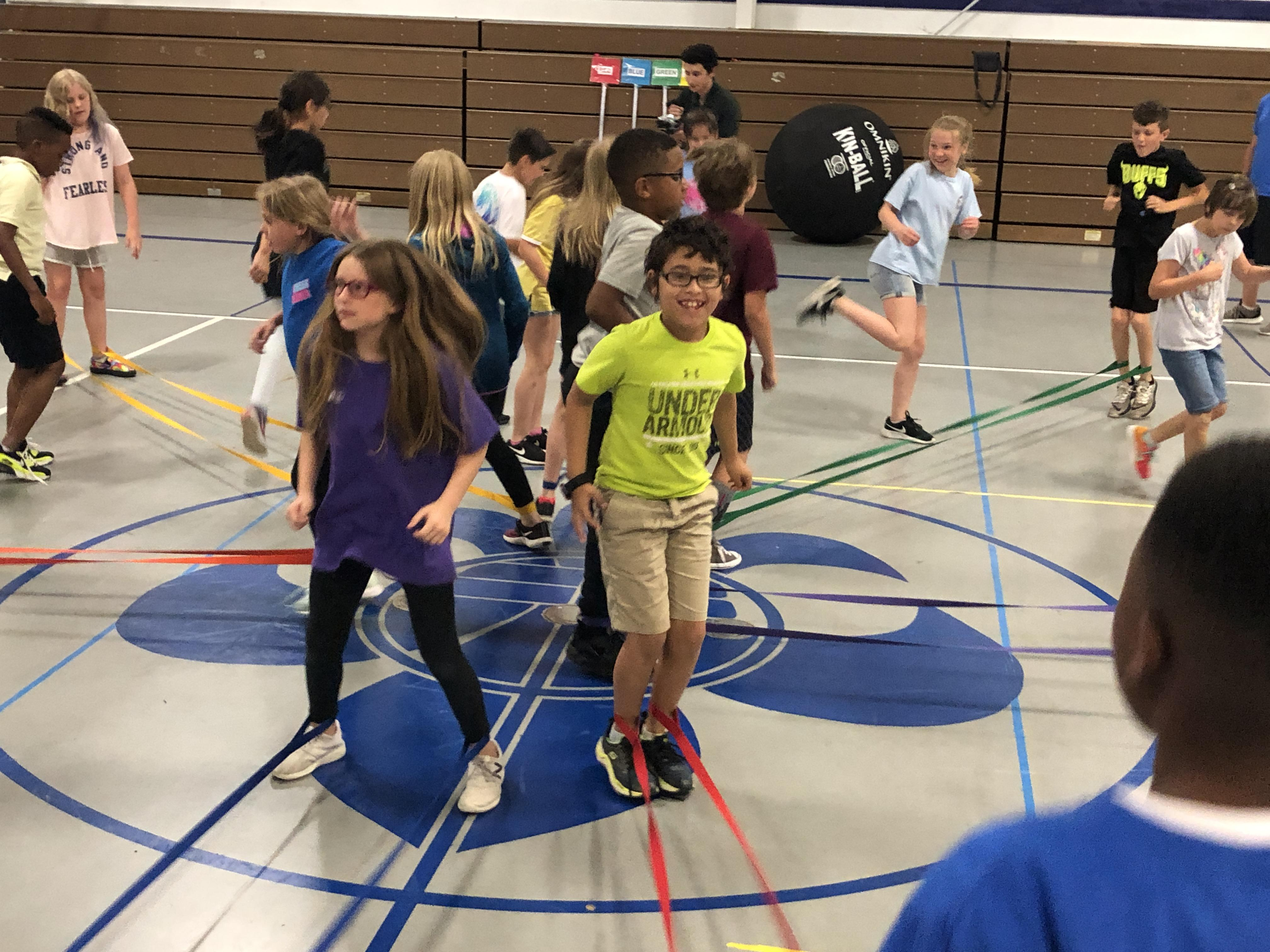 Fine Arts Academy students learned Tinikling, a traditional Philippine Folk dance, in Anna Falcon's PE classes this year.
