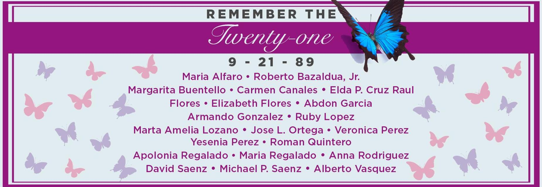 Remember the 21