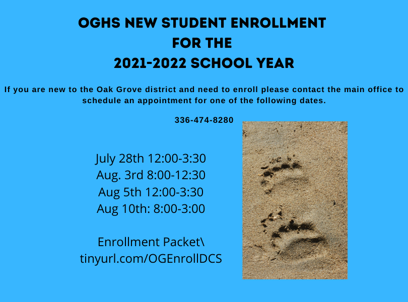 New Student Enrollment Dates
