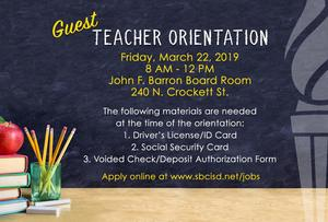 Guest Teacher Orientation