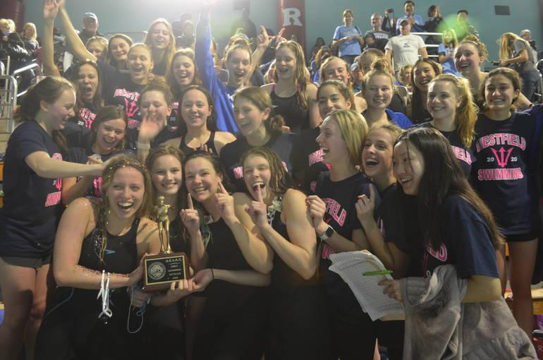 Girls 2019-20 Swim wins UCIAC Championship