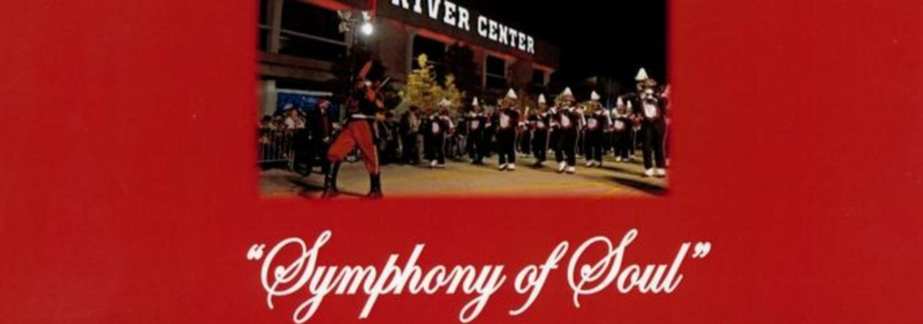 a graphic ad for the April 19th fundraiser for the Baker High School Band