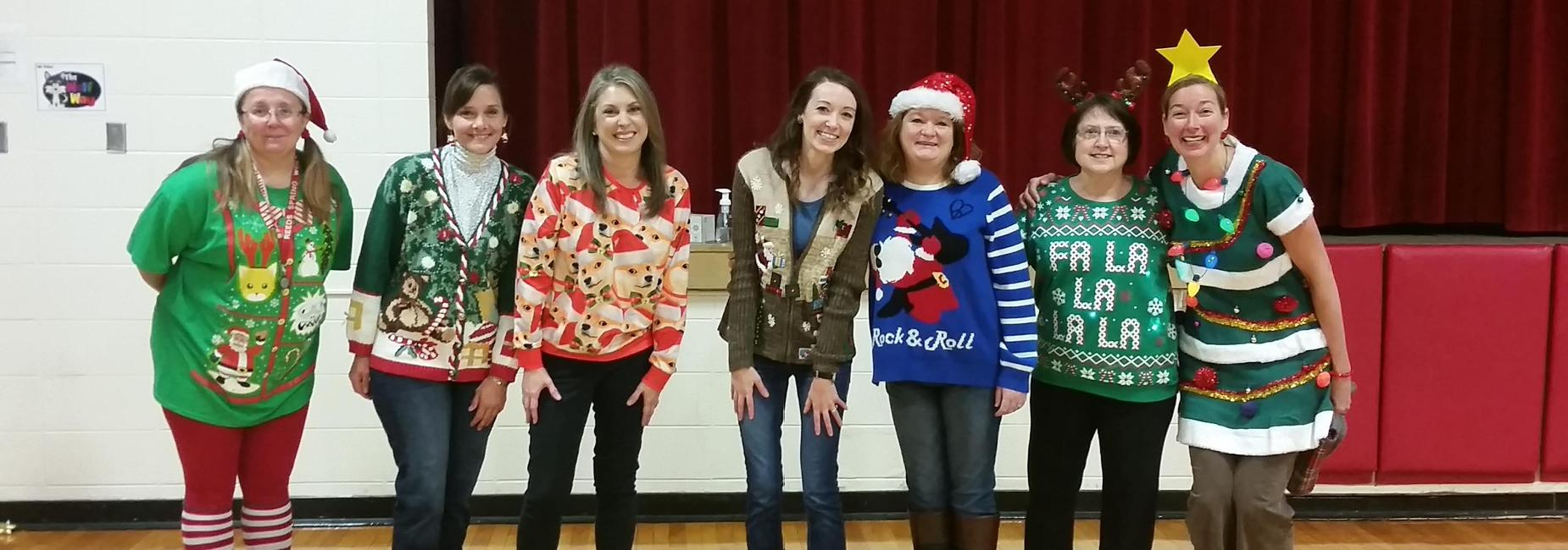 Christmas sweater contest