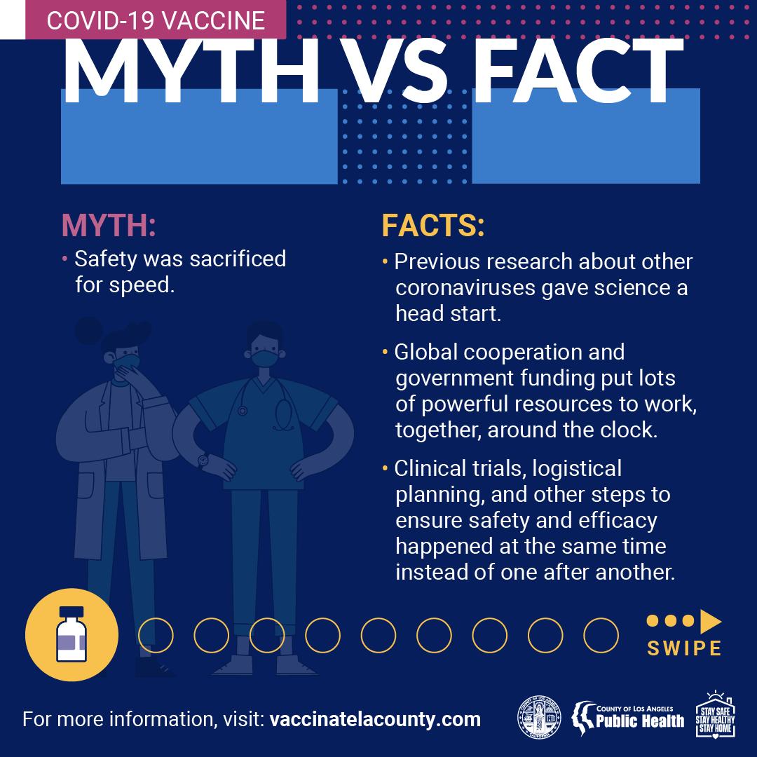 COVID-19 Vaccine Myth vs. Fact Sheet 1