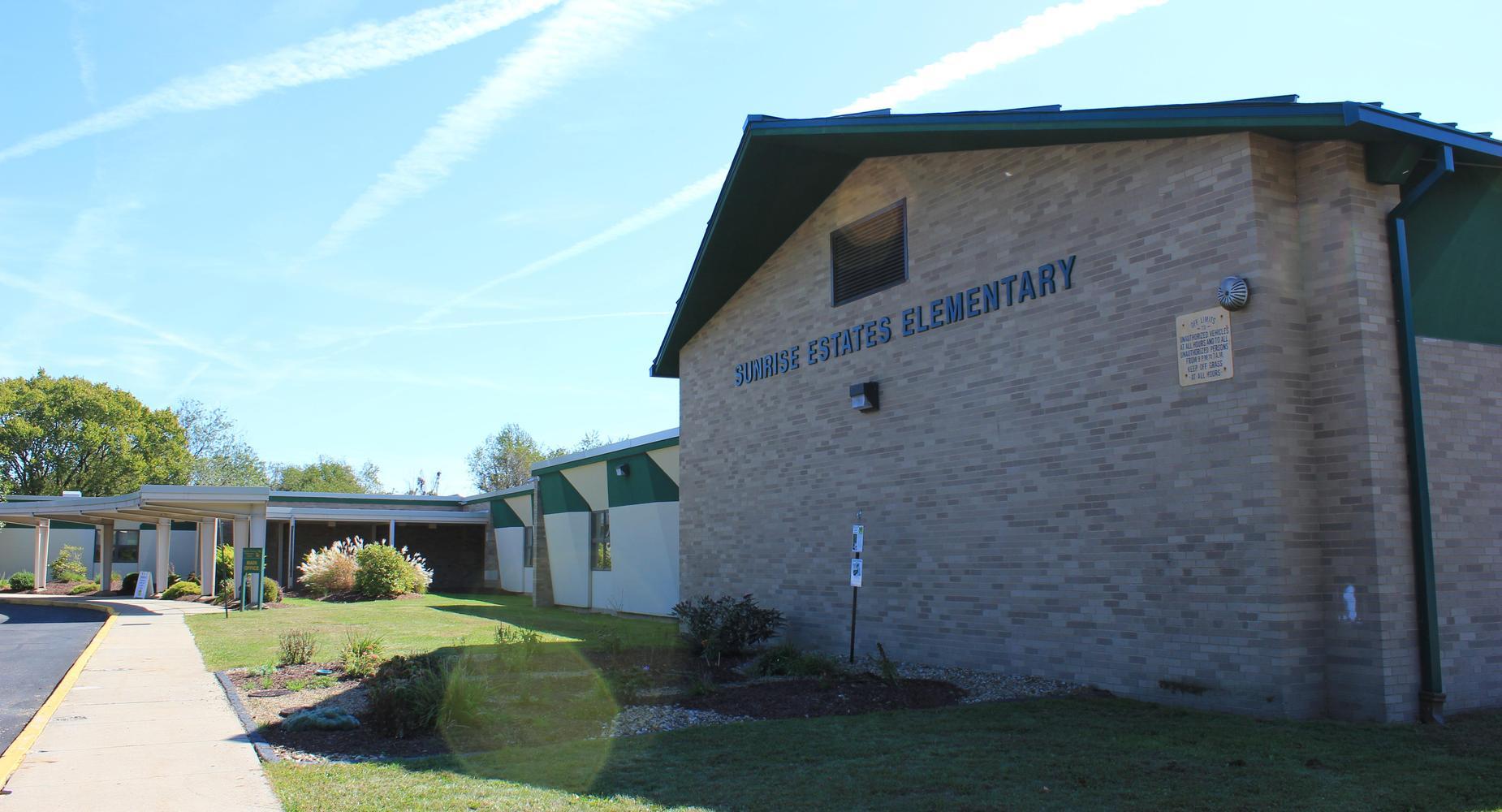 Exterior of Sunrise Estates Elementary School