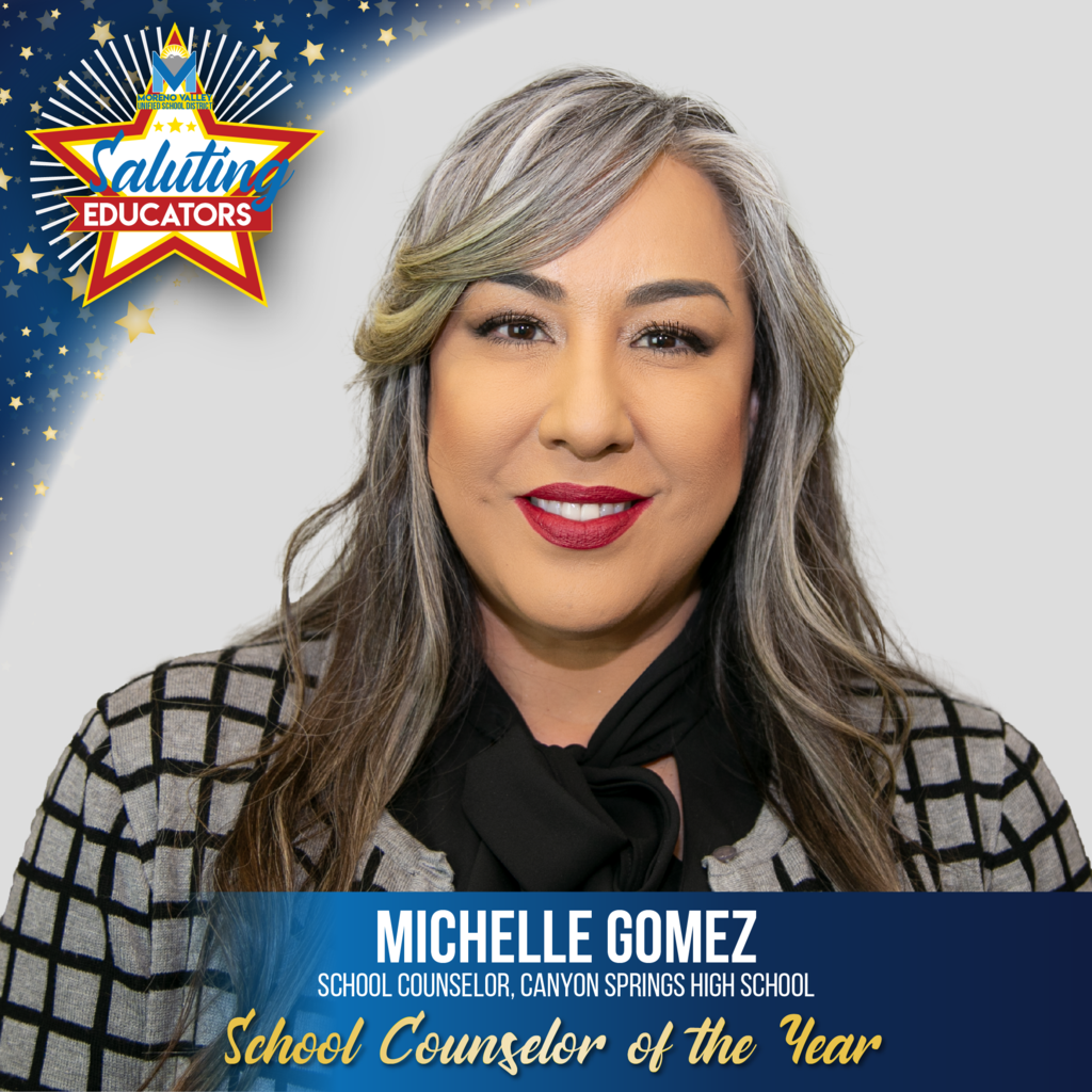 Michelle Gomez is the School Counselor of the Year