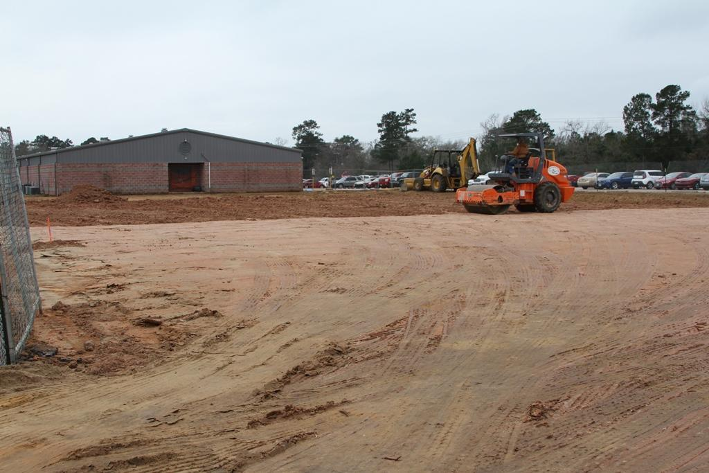 Dirt work to prepare for slab at COHS CTE wing