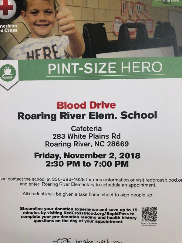 Blood Drive Friday, November 2, 2018 Thumbnail Image