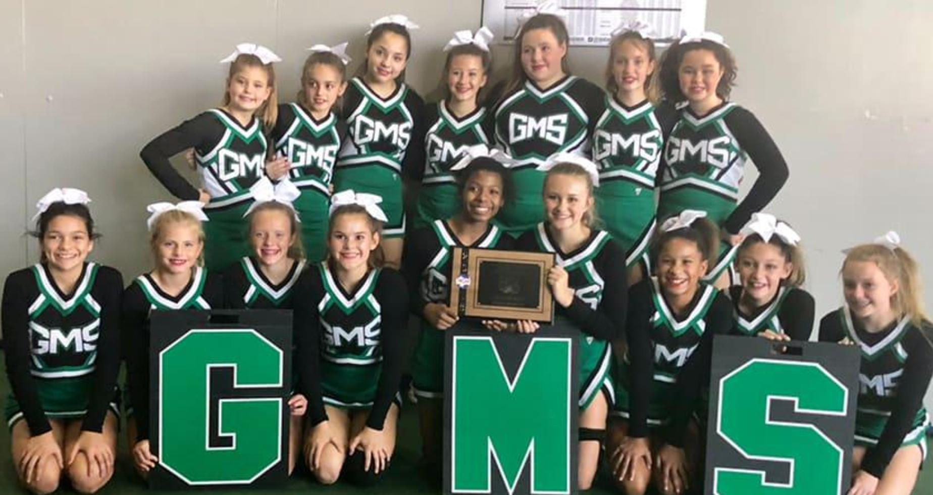 A picture of the GMS cheer team