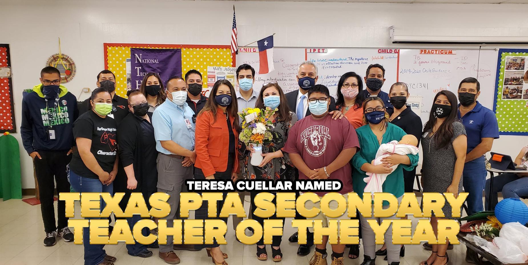 Teresa Cuellar named Texas PTA Secondary Teacher of the Year