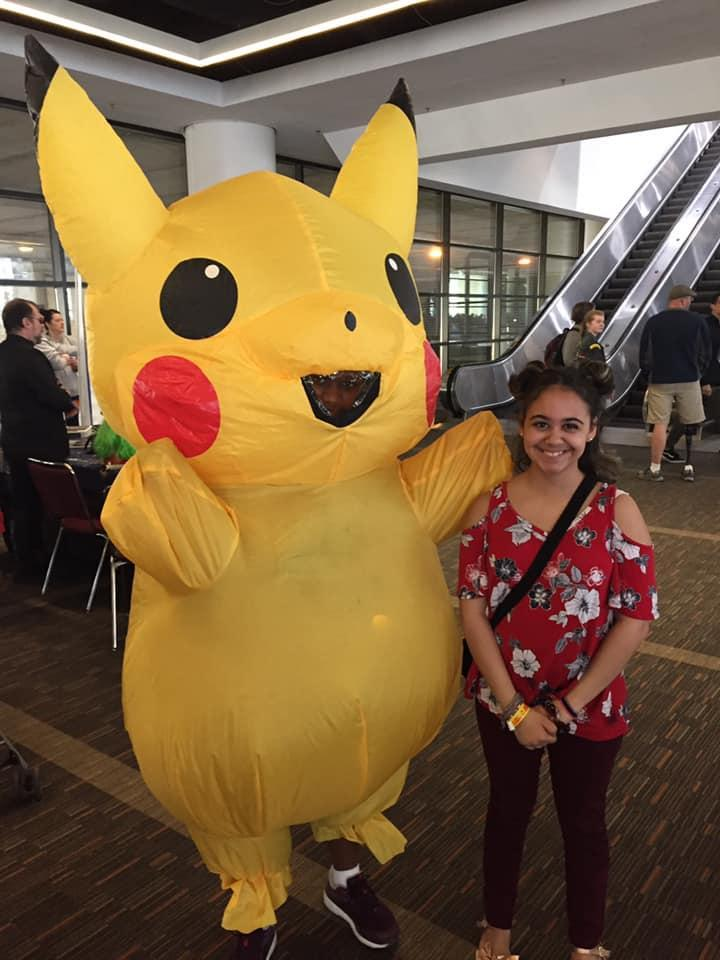 Daughter with Pikachu