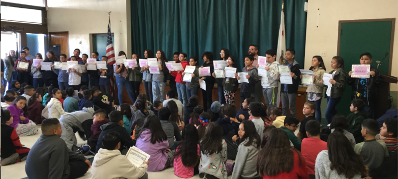 Trimester 1 Recognition Ceremony at Rancho Santa Gertrudes Elementary School