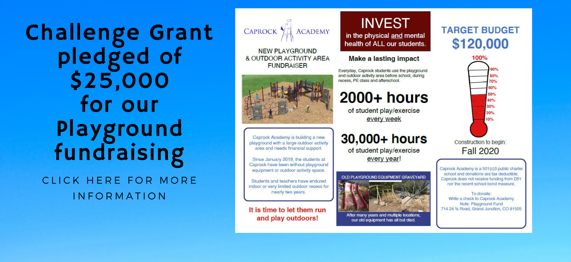 Challenge Grant playground brochure page 1 of 2