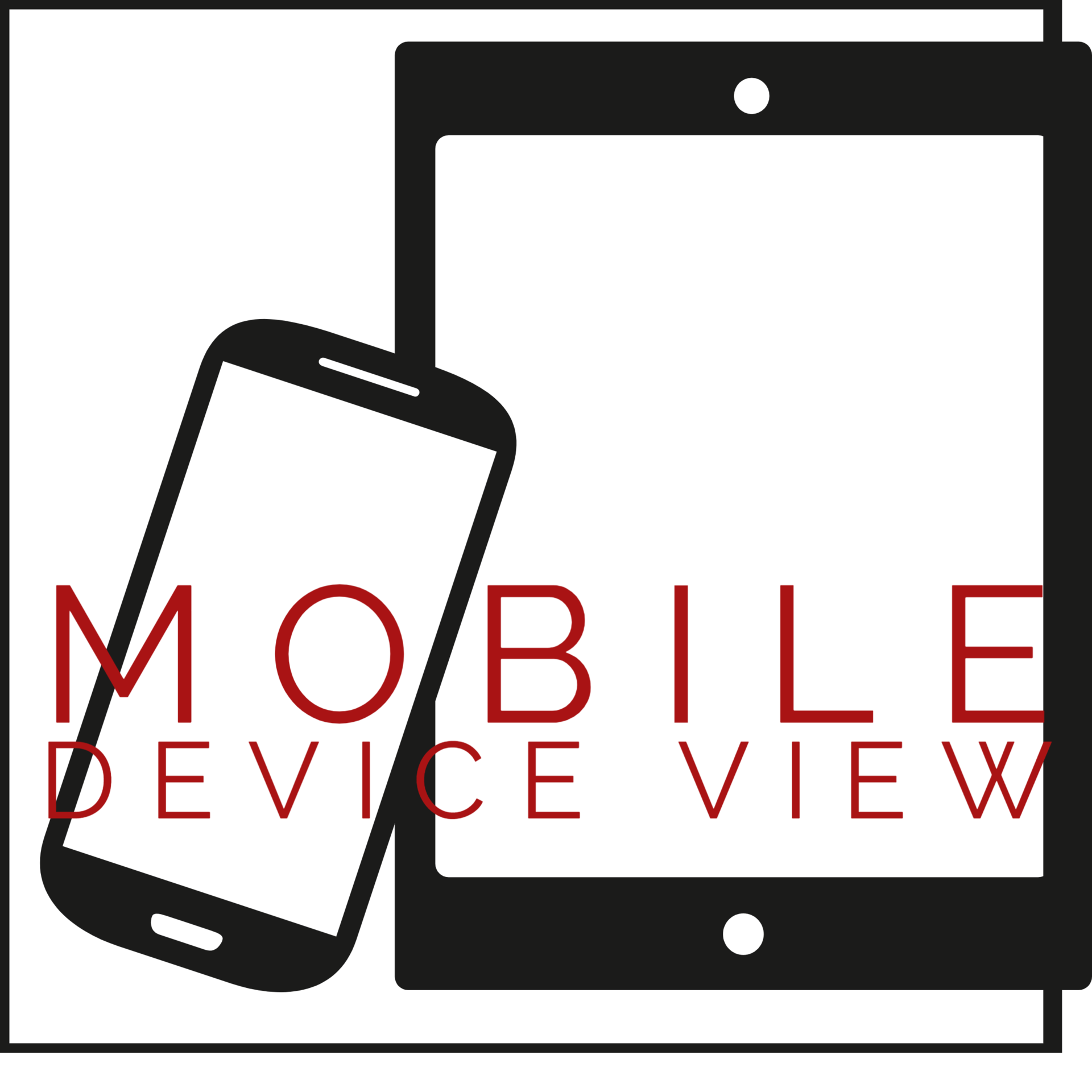 Mobile Deview View image of cell phone and tablet