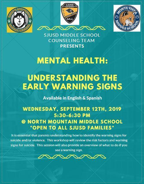 Early Warning Sign Workshop