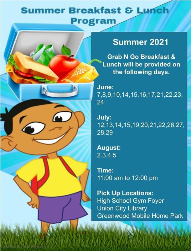 Summer Lunch schedule