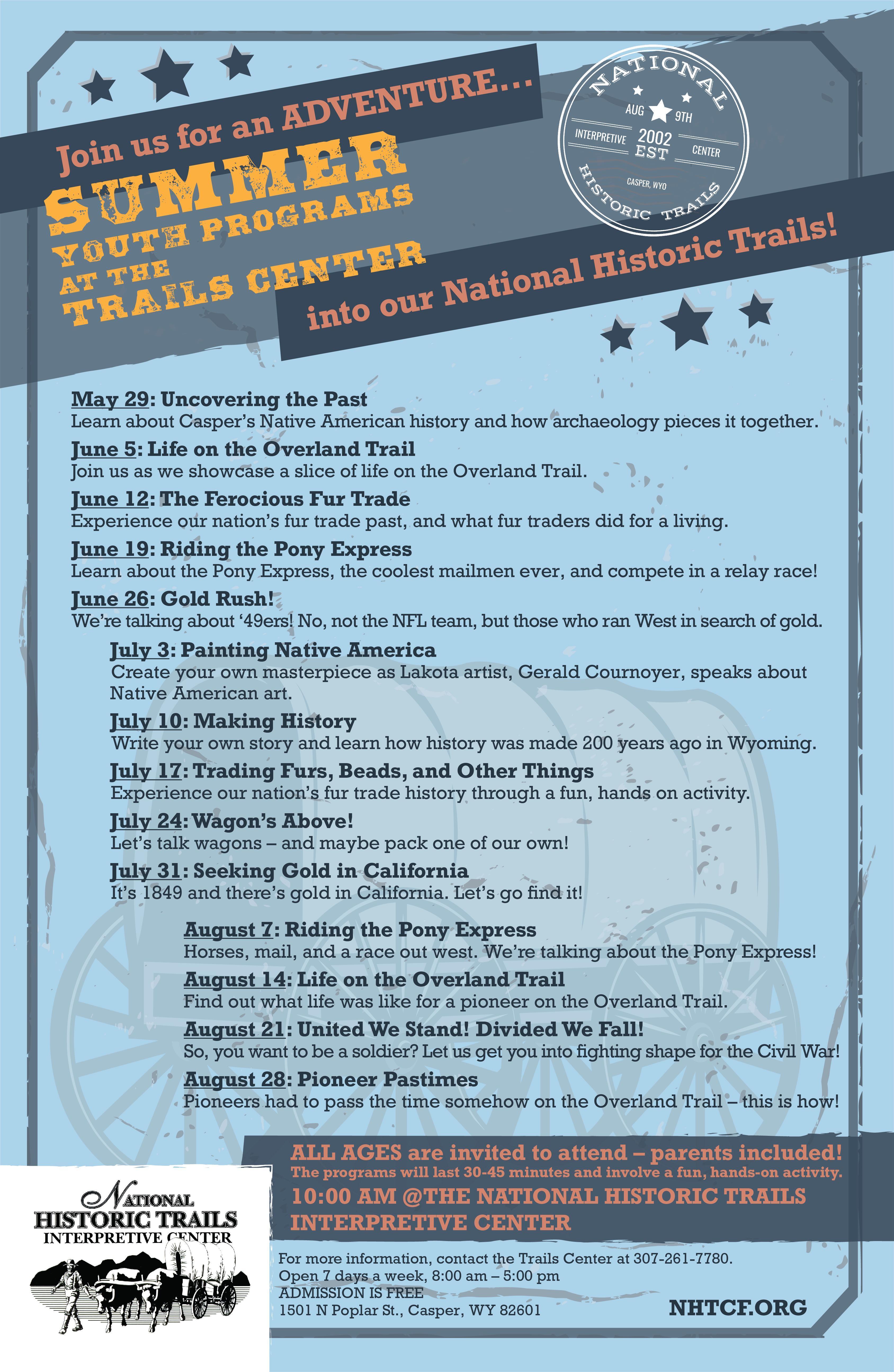 National Historic Trails Interpretive Center Summer Youth Programs